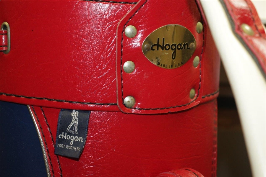 Excellent Condition Hogan Co. 'Demo Clubs' Red/White/Blue Golf Bag