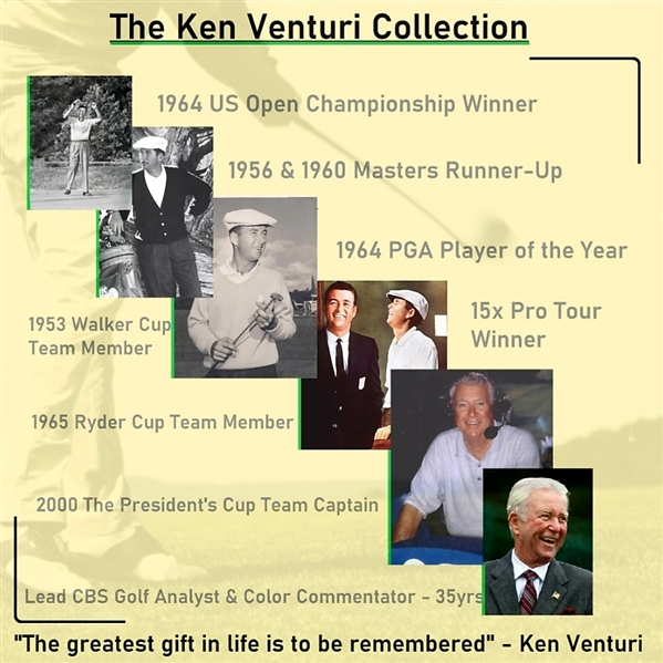 Ken Venturi's Personal Seven (7) PGA Tour Wallets/Credential Holders - Alicia Klein