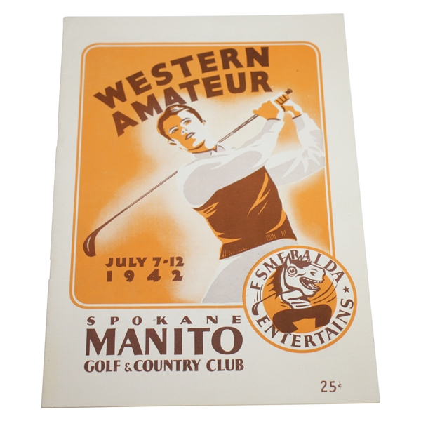 1942 Women's Western Amateur at Spokane Manito G & CC Program - Betty Jameson Win