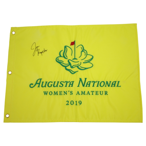 Jennifer Kupcho Signed 2019 Augusta National Women's Amateur Embroidered Flag JSA ALOA