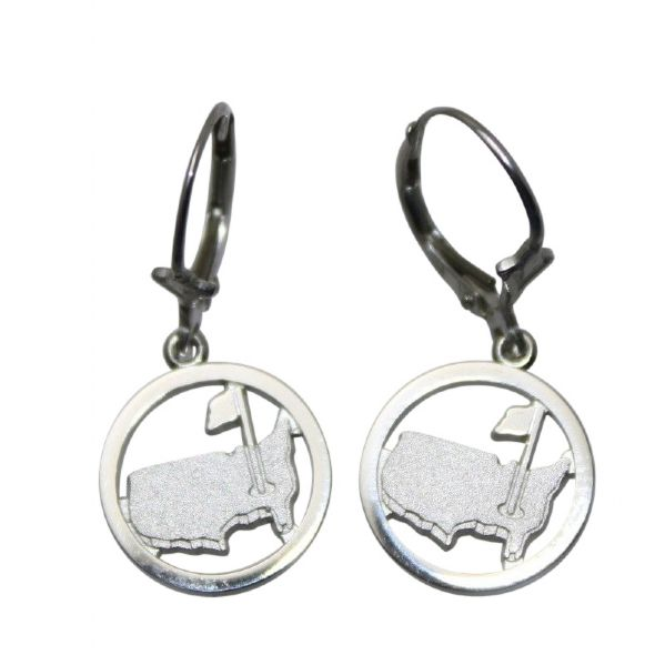 Masters Sterling Silver Map Earrings