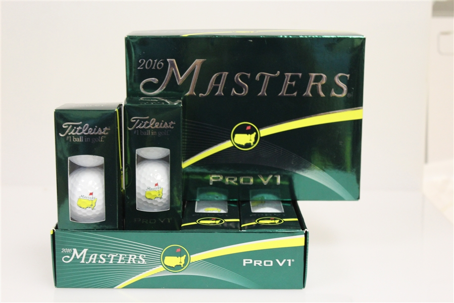 Masters 2016 Pro V1 Golf Ball Box - Dozen