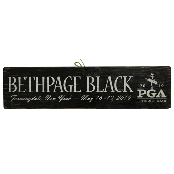 2019 PGA Championship Bethpage Wooden Sign - Koepka Win