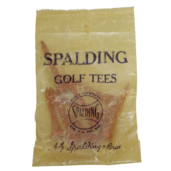 Vintage Wax Spalding Golf Tees Bag with Tees by A.G. Spalding & Bros. - Crist Collection