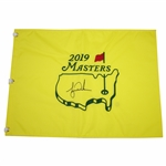 Tiger Woods Signed 2019 Masters Tournament Embroidered Flag FULL JSA #BB34065