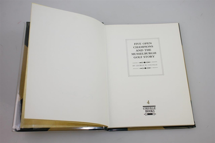 'Five Open Champions and the Musselburgh Golf Story' Signed Deluxe Edition Book by George M. Colville & Peter Alliss
