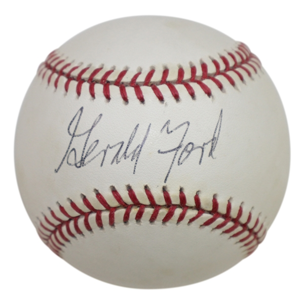 Gerald Ford Signed Rawlings Official American League Baseball JSA FULL #Z90541