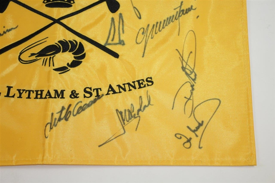 Major Champions Multi-Signed Royal Lytham & St. Annes Embroidered Flag JSA ALOA