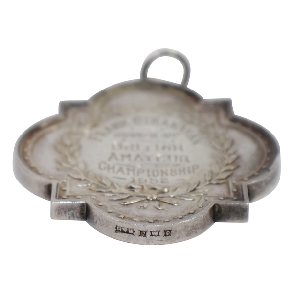 1952 British Amateur Championship Runner-Up Silver Medal Awarded to Frank Stranahan