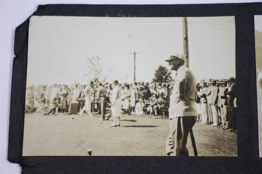Fifteen (15) Bobby Jones at Merion 1930 10 1/2x7 Photos Attached to Backing - Grand Slam - Backing measures
