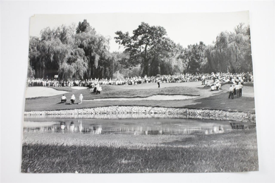 Four (4) Arnold Palmer at 1963 Western Open 10 3/4x8 1/4 Wire Photos of Palmer, Nicklaus, & Boros Playoff