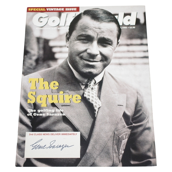 Gene Sarazen Signed 1995 Golf World 'The Squire' Magazine JSA ALOA