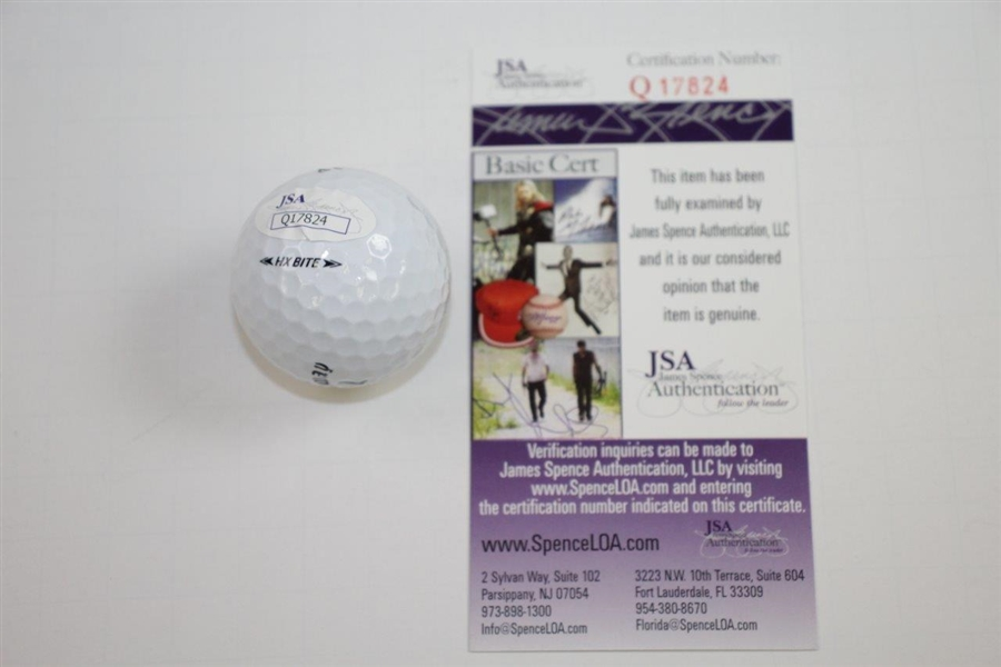 Jim Furyk Signed Callaway Golf Ball with '58' & the date '8.7.16' JSA #Q17824