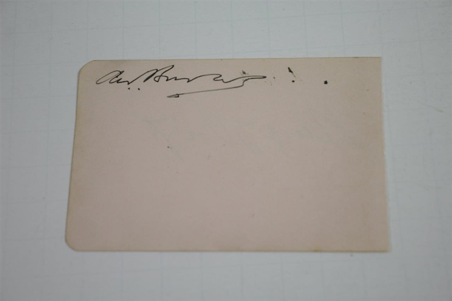 George Voigt Cut Signature - Bobby Jones 1930 Walker Cup Teammate - Also '32 & '36 Team