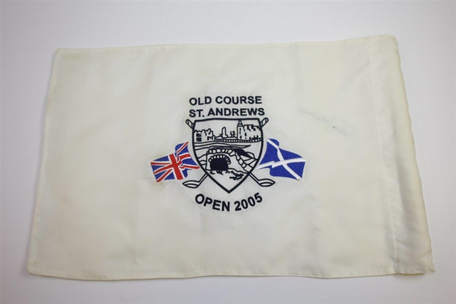 Jack Nicklaus Signed Course Flown Old Course St. Andrews 'OPEN 2005' Flag JSA ALOA