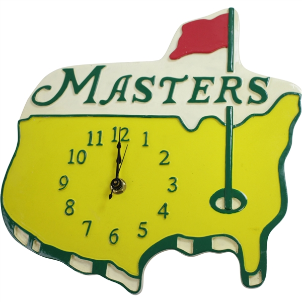 Classic Masters Yellow Logo Golf Clock - Needs Battery