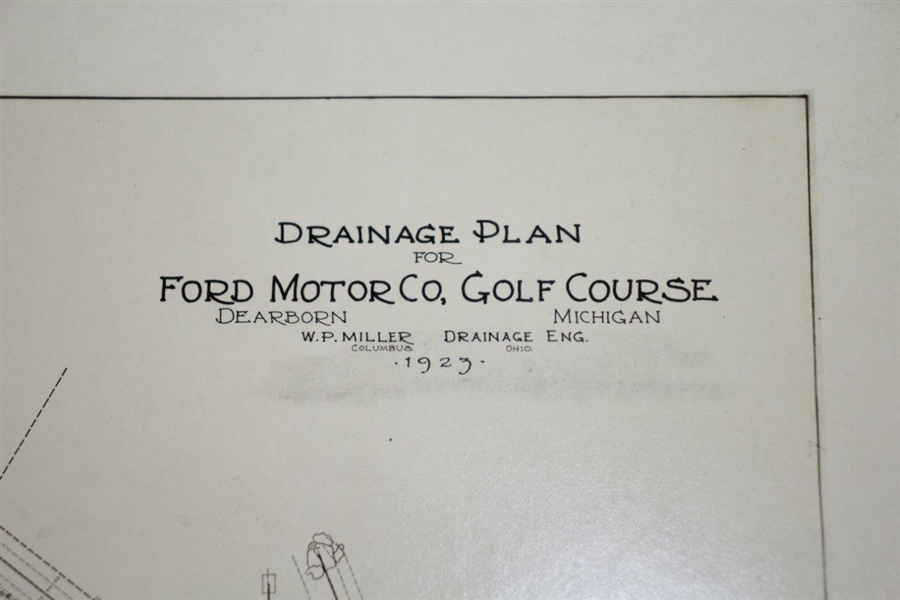 1923 Ford Motor Co. Golf Course Drainage Plane Photo - Wendell P. Miller Collection