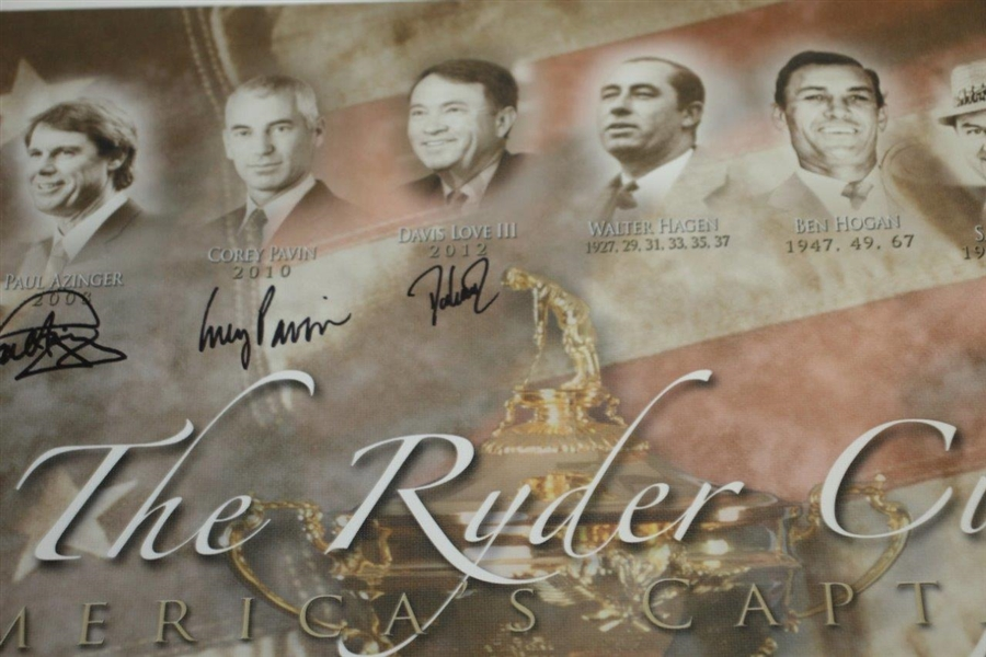 The Ryder Cup America's Captains Multi-Signed Canvas Print - Arnie, Jack, Tom, & more