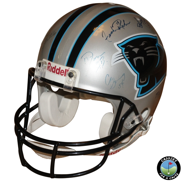 Multi-Signed Carolina Panthers Riddell NFL Helmet JSA ALOA