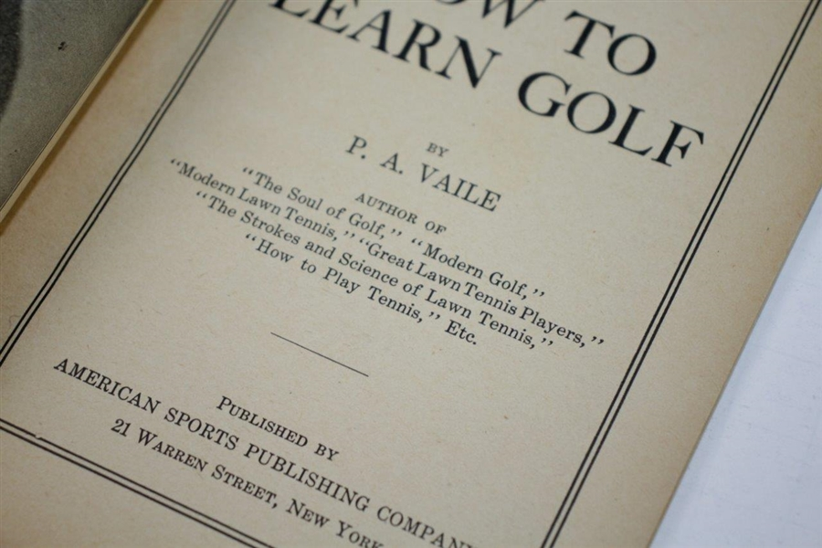 1919 1st Edition Spalding Primer Series 'Hot To Learn Golf' by P.A. Vaile