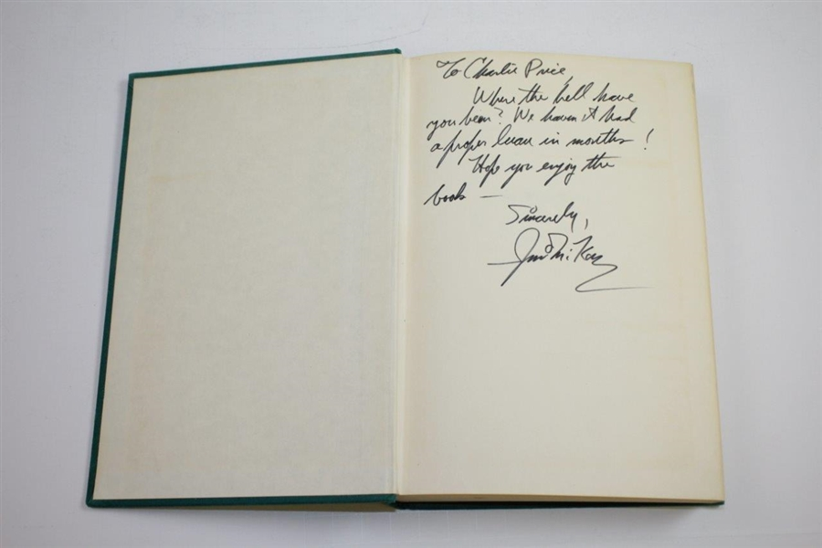 1973 'My Wide World' Golf Book by Jim McKay Signed & Inscribed to Charles Price - The Charles Price Collection