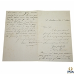 "Old Tom Morris Signed Feb. 3, 1904 St. Andrews Stationary ""Playing a good bit of golf lately"" JSA FULL #BB53952"