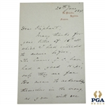 1893 Handwritten Letter to Oliphant from Corbett Regarding Ruling at Cannes Golf Club - June 28th