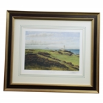 Ailsa Course Turnberry Print Signed by Artist Graeme Baxter - Framed