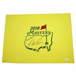 Patrick Reed Signed 2018 Masters Embroidered Flag with Captain America JSA FULL #Z70883