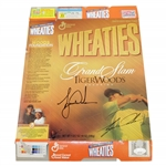 Tiger Woods Signed Wheaties Grand Slam Champion Ltd Ed Box JSA FULL #BB46564