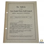 1933 Bulletin of New South Wales Green Research Committee Booklet - Vol. 1 No. 2