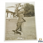 1923 Wire Photo of Mrs. Ronald Barlow Oldest Player in Womens National Golf Tourney