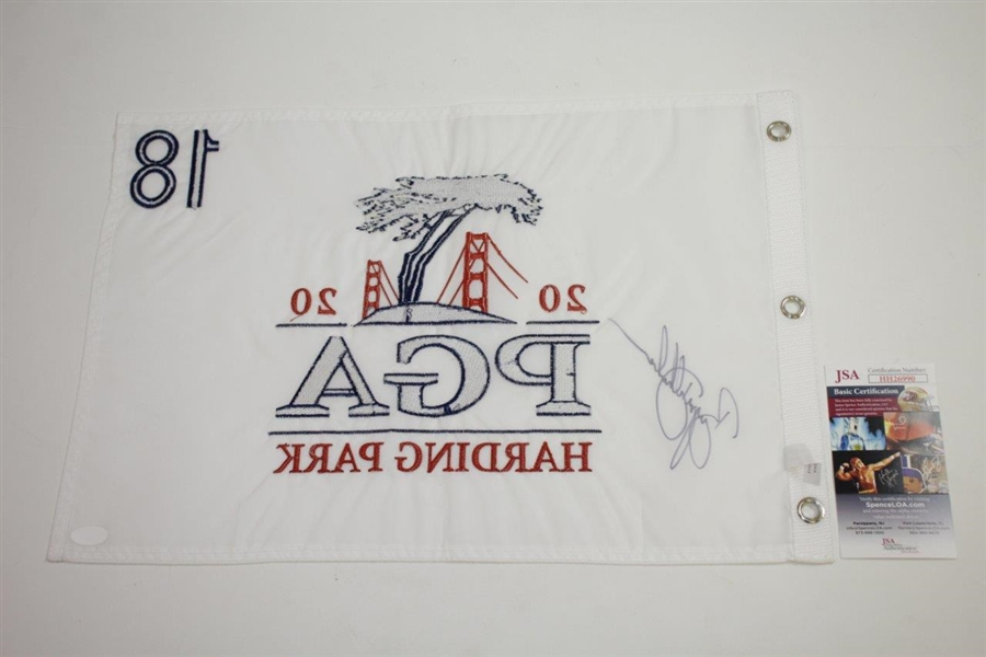 Bryson Dechambeau Signed 2020 PGA Championship at Harding Park Embroidered Flag JSA #HH26990
