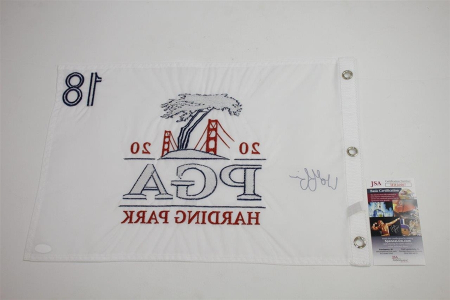 Matthew Wolff Signed 2020 PGA Championship at Harding Park Embroidered Flag JSA #HH26987