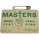 1967 Masters Tournament Series Badge #7661 - Gay Brewer Winner