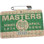 1974 Masters Tournament Series Badge #27525 - Gary Player Winner