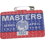 1976 Masters Tournament Series Badge #8557 - Ray Floyd Winner