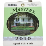 2010 Masters Tournament Series Badge #Q00582 - Phil Mickelson Winner