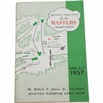1957 Masters Tournament Spectator Guide - Doug Ford Winner