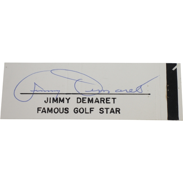 Jimmy Demaret Signed Cut 'Famous Golf Star' JSA ALOA