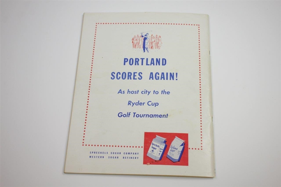 1947 Ryder Cup at Portland Golf Club Signed by Both Teams & Captains JSA ALOA