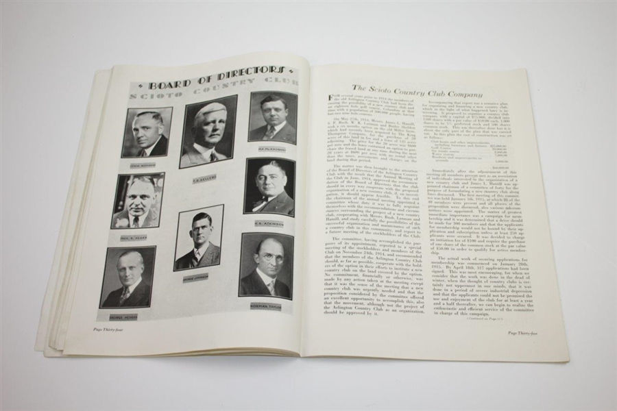 1931 Ryder Cup at Scioto Country Club Official Program