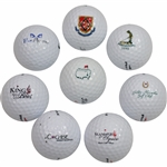 Eight Course Logo Golf Balls Including Classic Masters Logo Golf Ball