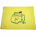 Lee Westwood Signed 2010 Masters Embroidered Flag - 3rd Rd Leader & Runner-Up JSA ALOA