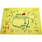 2006 Masters Flag Signed by 27 Including Sergio, Furyk, Toms, Coody, & others JSA ALOA