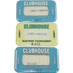 Three Masters Clubhouse Badges (1987 & 1988) - Bobby Wadkins Collection