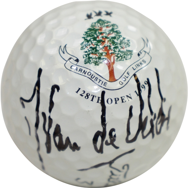 Jean Van de Velde 1999 OPEN at Carnoustie Logo Golf Ball JSA ALOA