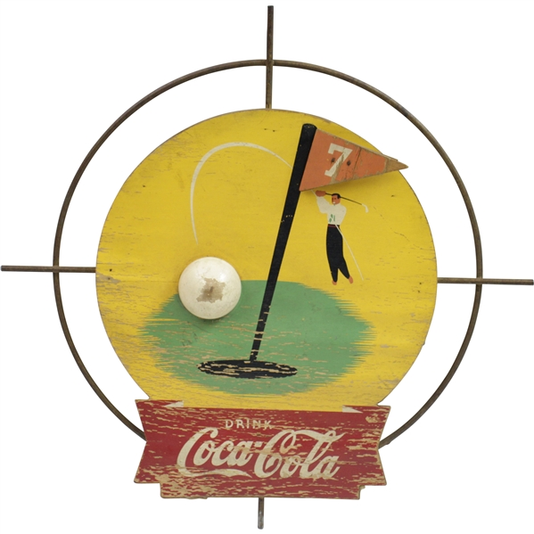 Vintage 1930's Coca-Cola Kay Displays Seldom Seen 3D Golf Advertising Sign