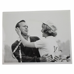 Arnold Palmer 1966 Wire Photo After Receiving Victory Kiss from Los Angeles Open Queen