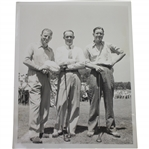 Craig Wood, Denny Shute, & Byron Nelson Wire Photo at 1939 US Open 6/11/39